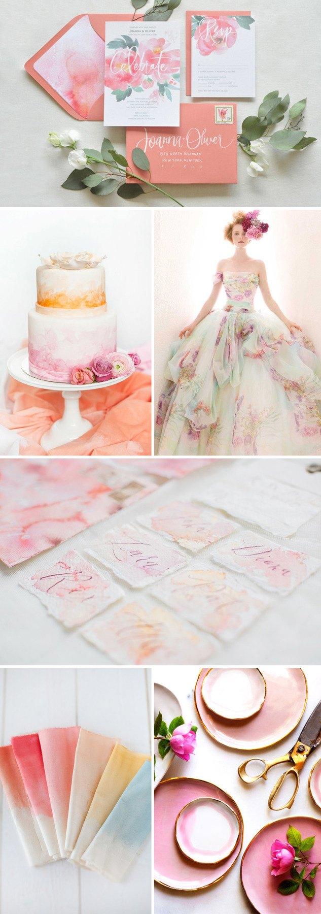Nuage Designs Watercolor Wedding2