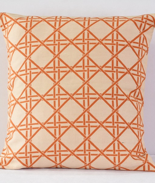 Orange Barboza Pillow - reverse