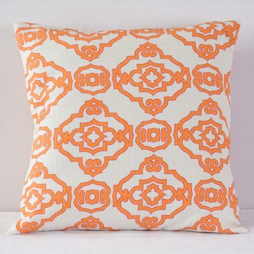 Orange Papel Chino Pillow