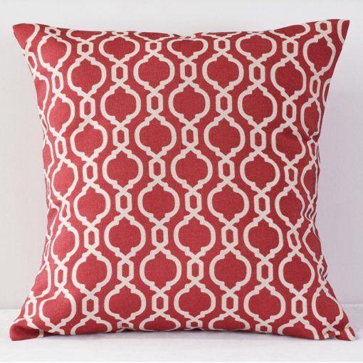 Raspberry Venetian - Reverse Pillow