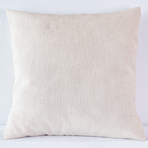 Rose Metallic Burlap Pillow