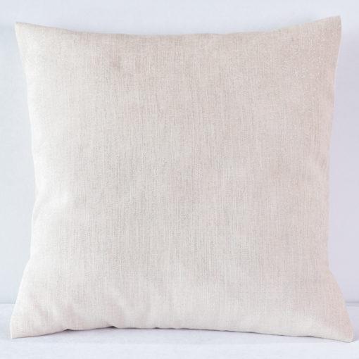 Rose Metallic Burlap Pillow