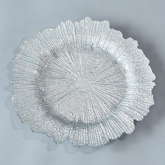 Silver Sea Sponge Charger