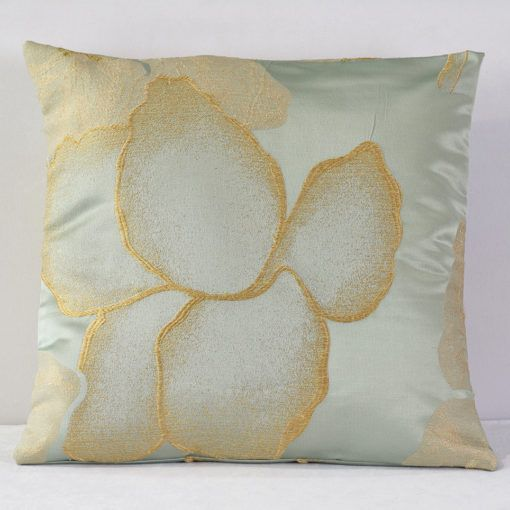 Teal Gardenia Pillow