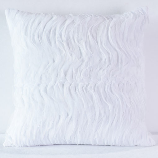 White Tulle Wave Pillow
