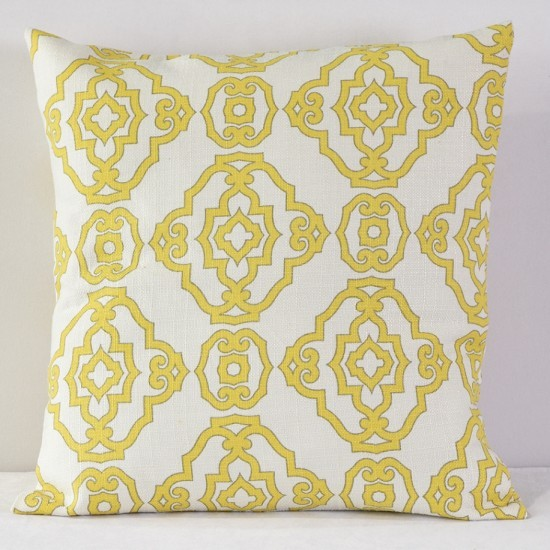 Yellow Papel Chino Pillow