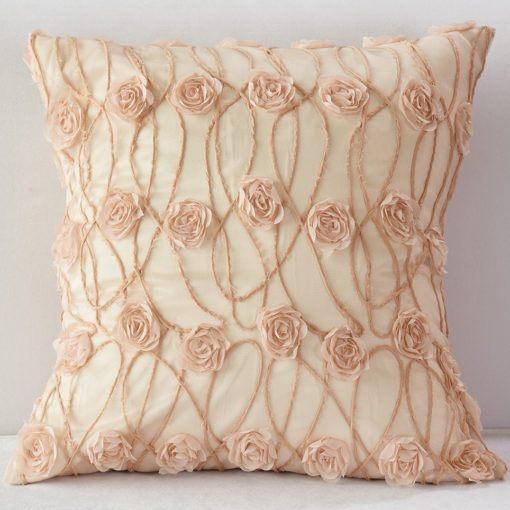 Blush New Flower Pillow