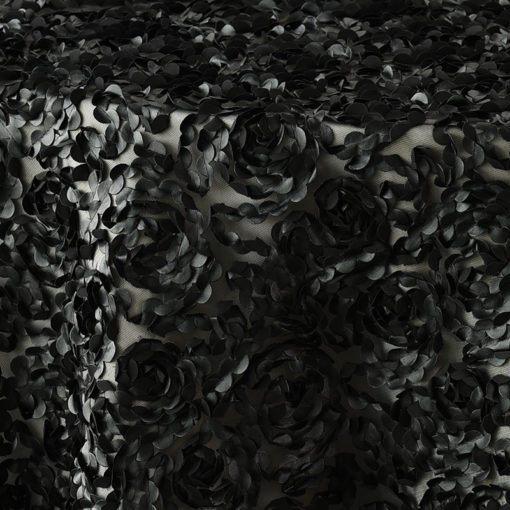 Black Leather Rosette