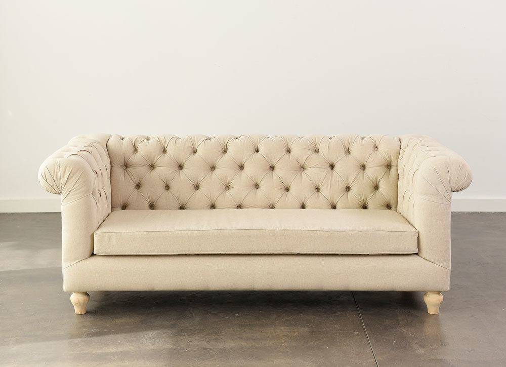 Oatmeal Chesterfield Sofa Nüage Designs