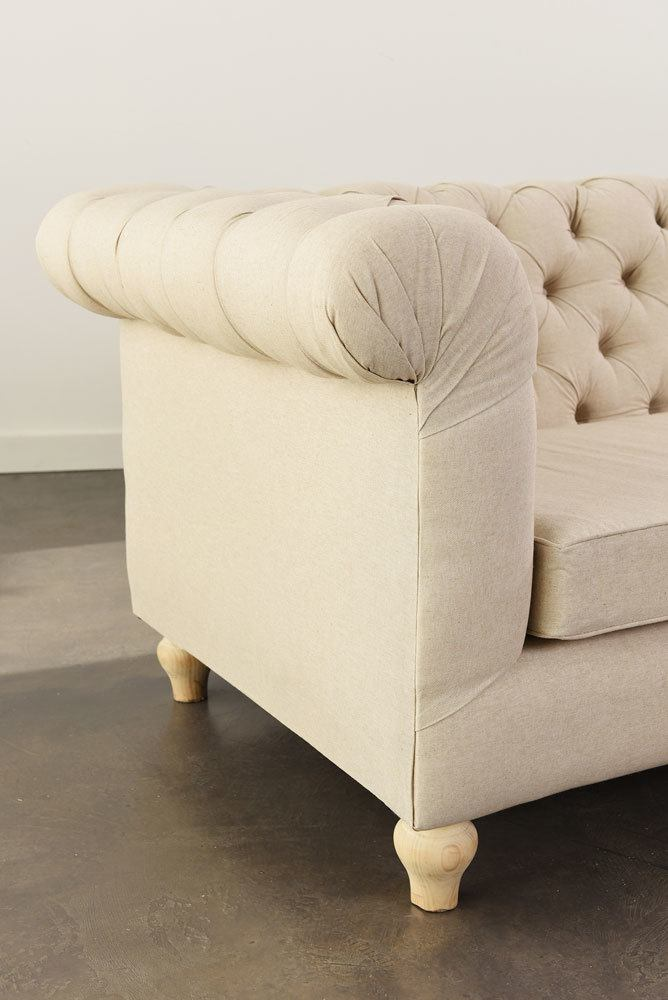 Oatmeal Chesterfield Sofa
