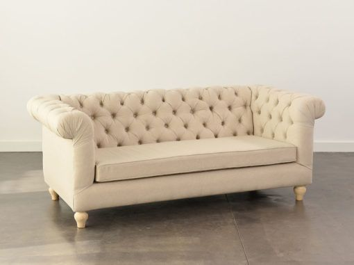 Oatmeal Chesterfield Sofa 3