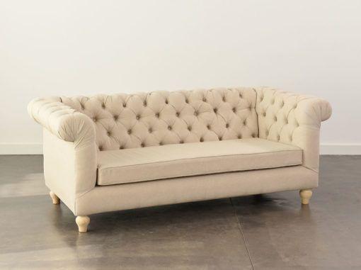 Oatmeal Chesterfield Sofa 3