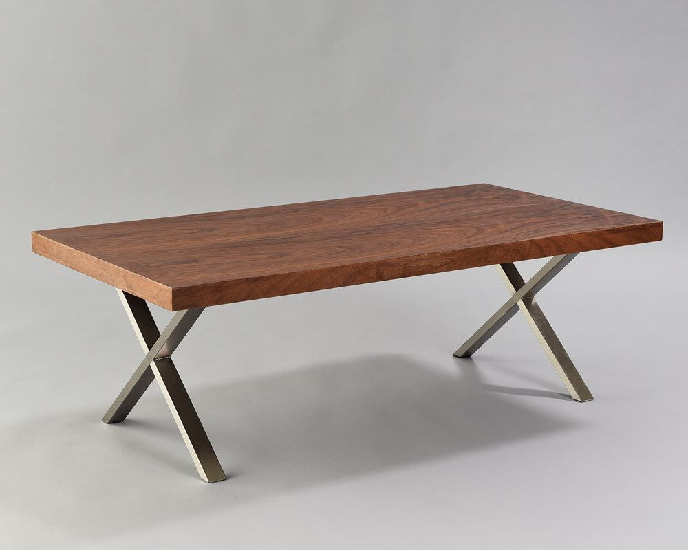 walnut x coffee table n age designs ForX Coffee Tables