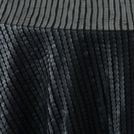 black leather dot - close up