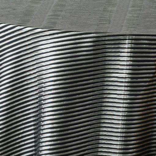 black metallic stripe - close up