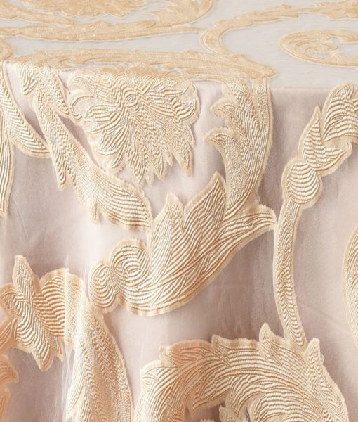 blush damask scroll - close up