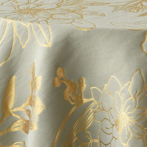 gold and silver metallic flower - close up