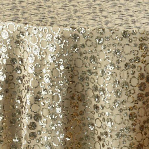 gold sequin bubble - close up