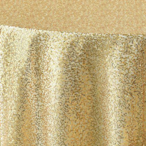 gold sequin mesh - close up