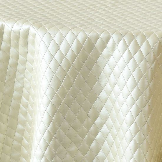 ivory quilted leather - close up