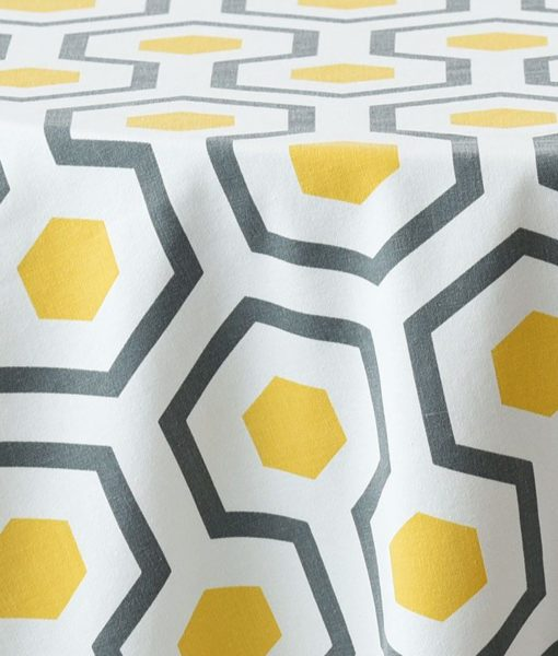 yellow hexagon - close up