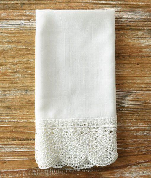 Snow Elizabeth lace Napkin