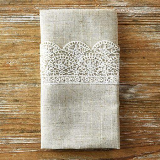Flax Elizabeth lace Napkin