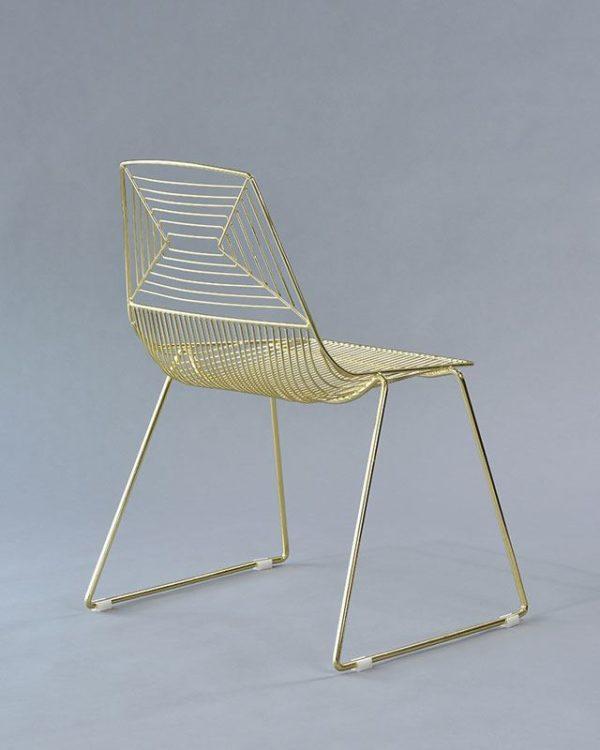 gold soho chair
