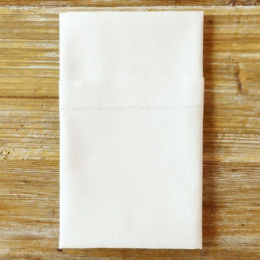 white hemstitch napkin