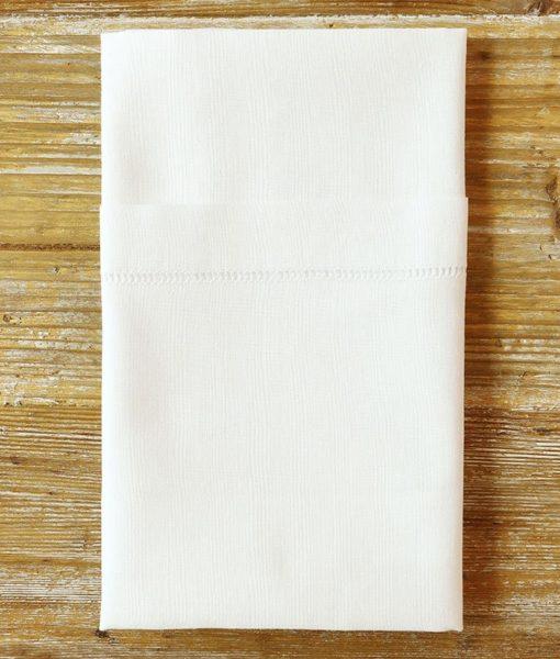 white hemstitch napkin