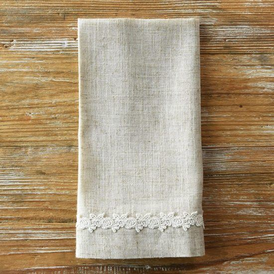 flax diana lace napkin