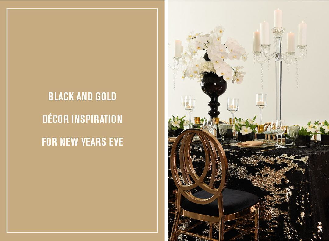 Black and Gold Décor Inspiration for New Years Eve - Nüage Designs