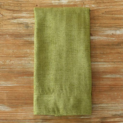 Apple Metallic Burlap Napkin