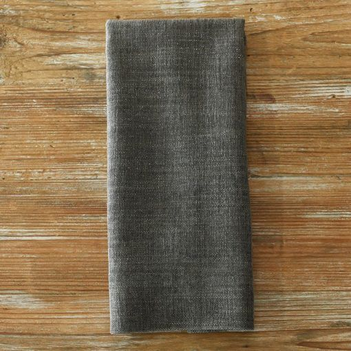 Gray Metallic Burlap Napkin