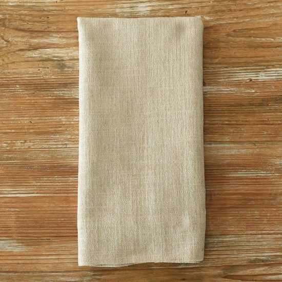 Flax Metallic Burlap Napkin