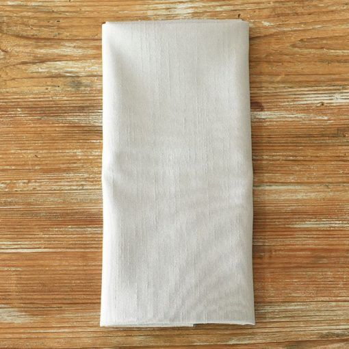 Dove Grey Faux Dupioni Napkin