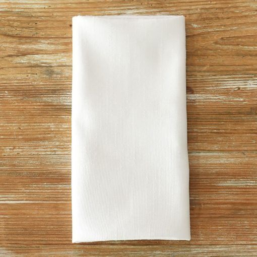 Ultra White Faux Dupioni Napkin