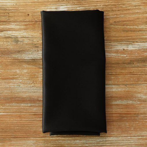 Ultra Black Satin Napkin