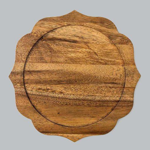 Natural Acacia Charger