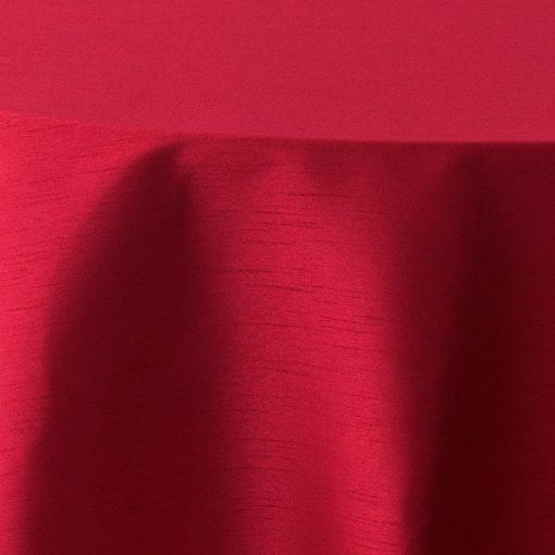 Valentine Red Faux Dupioni