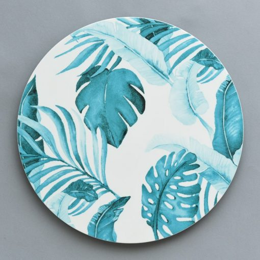 Turquoise Palm Court Charger