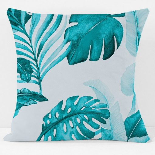 Turquoise Palm Court Pillow