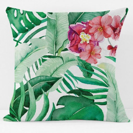 Hibiscus palm Pillow