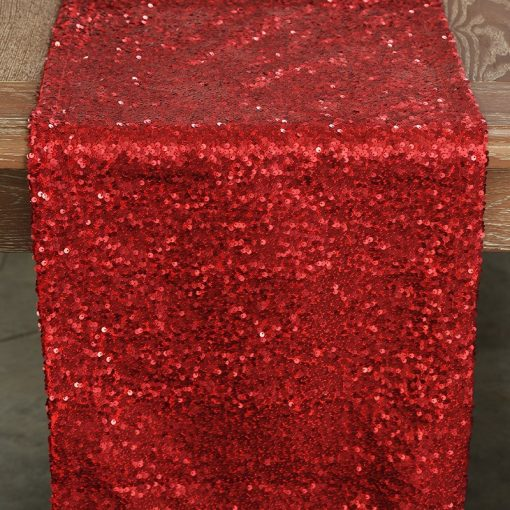 red-sequin-taffeta-runner