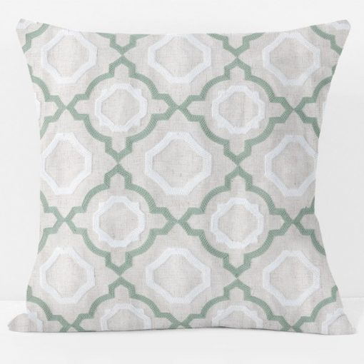 spring-green-lattice-pillow